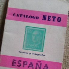 Sellos: CATÁLOGO NETO DE SELLOS ESPAÑOLES 1850 - 1967 (CORREOS Y TELÉGRAFOS, 1967) - ESCASO. Lote 115647103