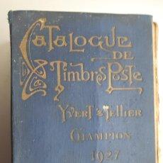 Sellos: CATÁLOGO DE SELLOS AÑO 1927. Lote 117436044