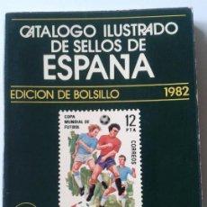 Sellos: CATALOGO ILUSTRADO DE SELLOS DE ESPAÑA- RICARDO DE LAMA - EDICIÓN DE BOLSILLO 1982 (ENVÍO 2,30€). Lote 117755711