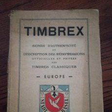 Timbres: H. SCHLOSS-TIMBREX-SIGNES-AUTHENTICITE.CLASSIQUES.EUROPE.1944.. Lote 118488067