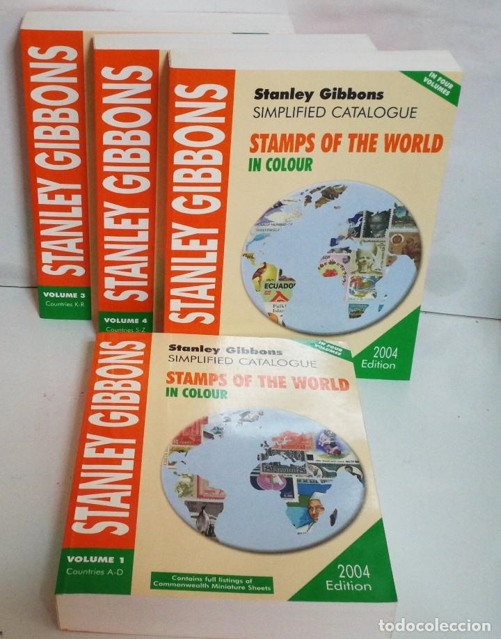 STAMPS OF THE WORLD STANLEY GIBBONS COMPLETO 4 VOLUMENES (Filatelia - Sellos - Catálogos y Libros)