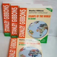Sellos: STAMPS OF THE WORLD STANLEY GIBBONS COMPLETO 4 VOLUMENES. Lote 118709875