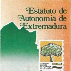 Sellos: == JN14 - FOLLETO - INFORMACION Nº 2/84 - ESTATUTO DE AUTONOMIA DE EXTREMADURA. Lote 120152399