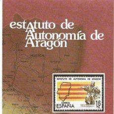 Sellos: == JN19 - FOLLETO - INFORMACION Nº 7/84 - ESTATUTO DE AUTONOMIA DE ARAGON. Lote 120153439