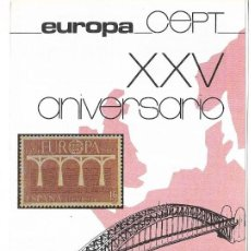 Sellos: == JN21 - FOLLETO - INFORMACION Nº 10/84 - EUROPA CEPT XXV ANIVERSARIO. Lote 120159827