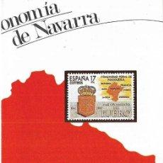 Sellos: == JN30 - FOLLETO - INFORMACION Nº 19/84 - ESTATUTO DE AUTONOMIA DE NAVARRA. Lote 120161019
