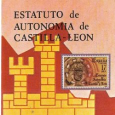 Sellos: == JN32 - FOLLETO - INFORMACION Nº 21/84 - ESTATUTO DE AUTONOMIA DE CASTILLA LEON. Lote 120161119