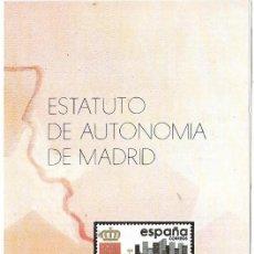 Sellos: == JN38 - FOLLETO - INFORMACION Nº 27/84 - ESTATUTO DE AUTONOMIA DE MADRID. Lote 120208935
