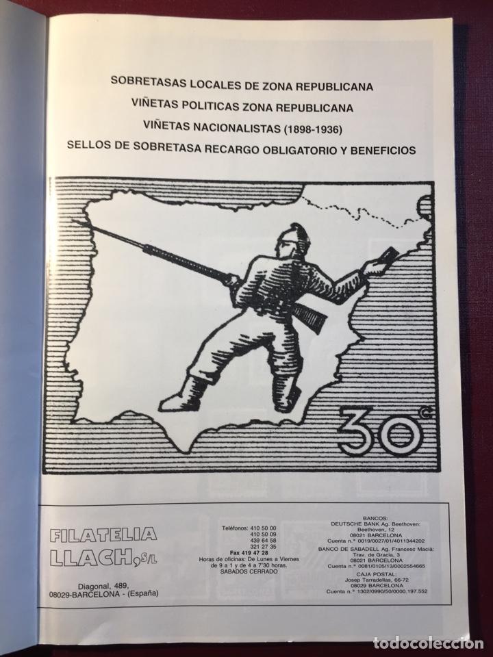 Sellos: Libro: España Guerra Civil 1936/1939.Filatelia LLACH(Barcelona 1994). - Foto 2 - 121984255