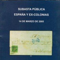 Briefmarken - CATALOGO SUBASTA SOLER Y LLACH. ESPAÑA Y EX-COLONIAS, CORREO AEREO. AÑO 2005 - 122190667