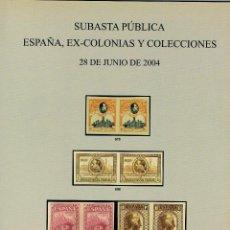 Briefmarken - Catalogo de Soler y Llach. Subasta de España, Ex-colonias y colecciones (2004). Muy ilustrado - 122373359