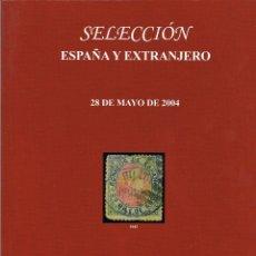 Sellos: CATALOGO DE SUBASTA DE SOLER Y LLACH. SELECCIÓN ESPAÑA Y EXTRANJERO. TODOS LOS LOTES ILUSTRADOS. Lote 122373943
