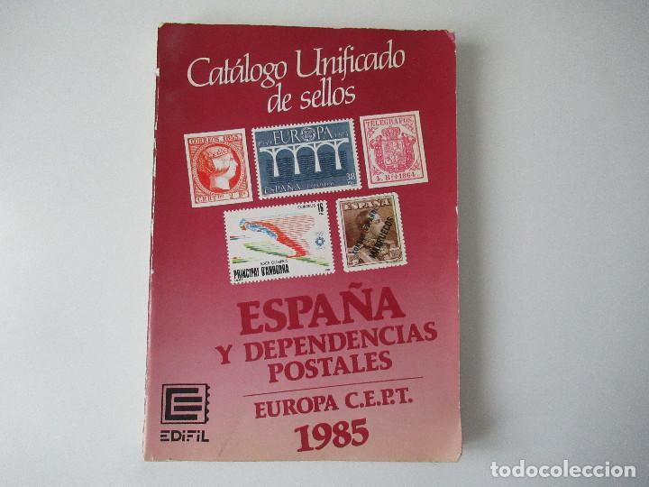 CATALOGO EDIFIL ESPAÑA Y DEPENDENCIAS POSTALES AÑO 1985. (Filatelia - Sellos - Catálogos y Libros)
