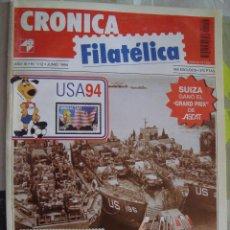 Sellos: REVISTA CRONICA FILATELICA Nº 112 JUNIO 1994. Lote 123289323