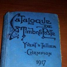 Sellos: 1917 - CATALOGO DE SELLOS MUNDIALES - YVERT & TELLIER - 847 PAGINAS + INDICES Y DEMAS. Lote 127003943