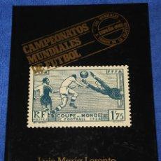 Sellos: CAMPEONATOS MUNDIALES DE FUTBOL - LUIS MARÍA LORENTE - ARGOS VERGARA (1982). Lote 128129383