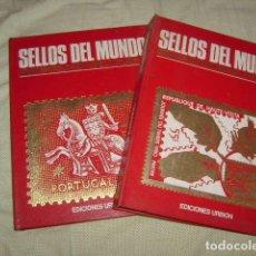 Sellos: SELLOS DEL MUNDO , GRAN ENCICLOPEDIA DE LA FILATELIA 2 TOMOS , URBION. Lote 128425207