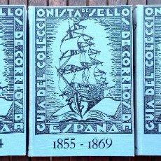 Sellos: FILATELIA,III TOMOS,GUIA DEL COLECCIONISTA DE SELLOS DE CORREOS DE ESPAÑA,1850-1900,EN CAJA,COMPLETA. Lote 128947575