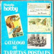 Sellos: CATALOGO DE TARJETAS POSTALES. 1985. FILATELIA HOBBY. III GRAN SUBASTA INTERNACIONAL. 1984.. Lote 129217423