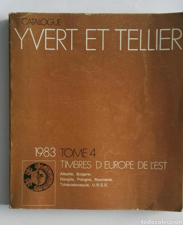 CATALOGUE YVERT ET TELLIER TIMBRES SELLOS 1983 (Filatelia - Sellos - Catálogos y Libros)