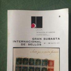Sellos: CATÁLOGO Nº 5 GRAN SUBASTA INTERNACIONAL DE SELLOS - PROMOCIONES DELTA - 27 -28 DE MAYO DE 1971. Lote 130992716