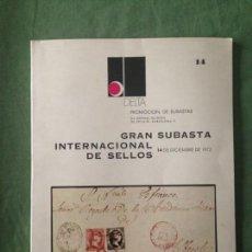 Sellos: CATÁLOGO Nº 14 GRAN SUBASTA INTERNACIONAL DE SELLOS - PROMOCIONES DELTA - 14 DE DICIEMBRE DE 1972. Lote 130993140