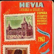 Sellos: CATÁLOGO HEVIA - 1963. EX-COLONIAS ESPAÑOLAS PROVINCIAS AFRICANAS. . Lote 131090484