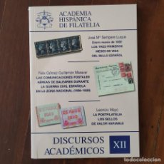 Sellos: DISCURSOS: ACADEMIA HISPANICA DE FILATELIA - N° 12 - BALEARES GUERRA CIVIL CORREO AEREO. Lote 132296866