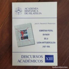 Sellos: DISCURSOS: ACADEMIA HISPANICA DE FILATELIA - N° 13 - SOBRE POSTAL EN LA LUCHA ANTITUBERCULOSA. Lote 132301506