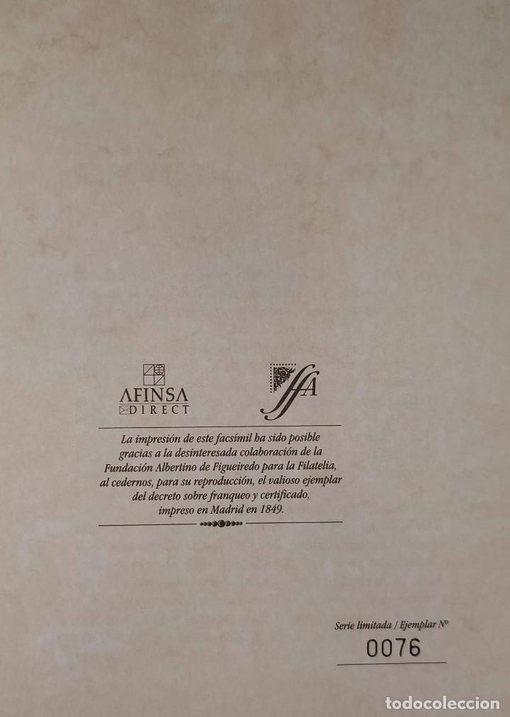 Sellos: Real decreto sobre franqueo y certificado de la correspondencia de 24 de noviembre de 1949. Facsímil - Foto 2 - 132906902