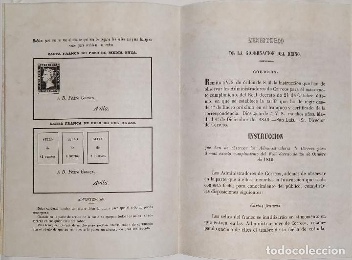 Sellos: Real decreto sobre franqueo y certificado de la correspondencia de 24 de noviembre de 1949. Facsímil - Foto 4 - 132906902