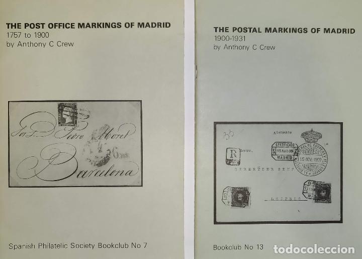 2 LIBROS DE LA SPANISH PHILATELIC SOCIETY BOOKCLUB Nº7 Y Nº13. MARKINGS OF MADRID. RAROS (Filatelia - Sellos - Catálogos y Libros)