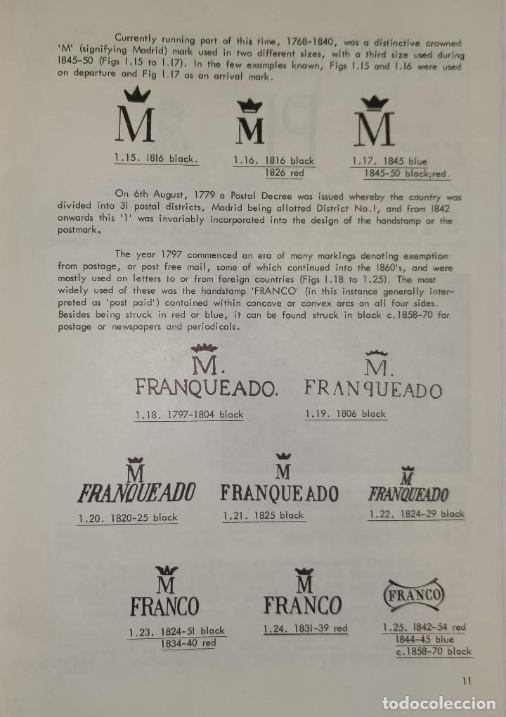 Sellos: 2 libros de la Spanish Philatelic Society Bookclub Nº7 y Nº13. Markings of Madrid. Raros - Foto 4 - 132907398