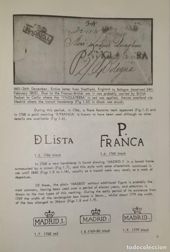 Sellos: 2 libros de la Spanish Philatelic Society Bookclub Nº7 y Nº13. Markings of Madrid. Raros - Foto 8 - 132907398