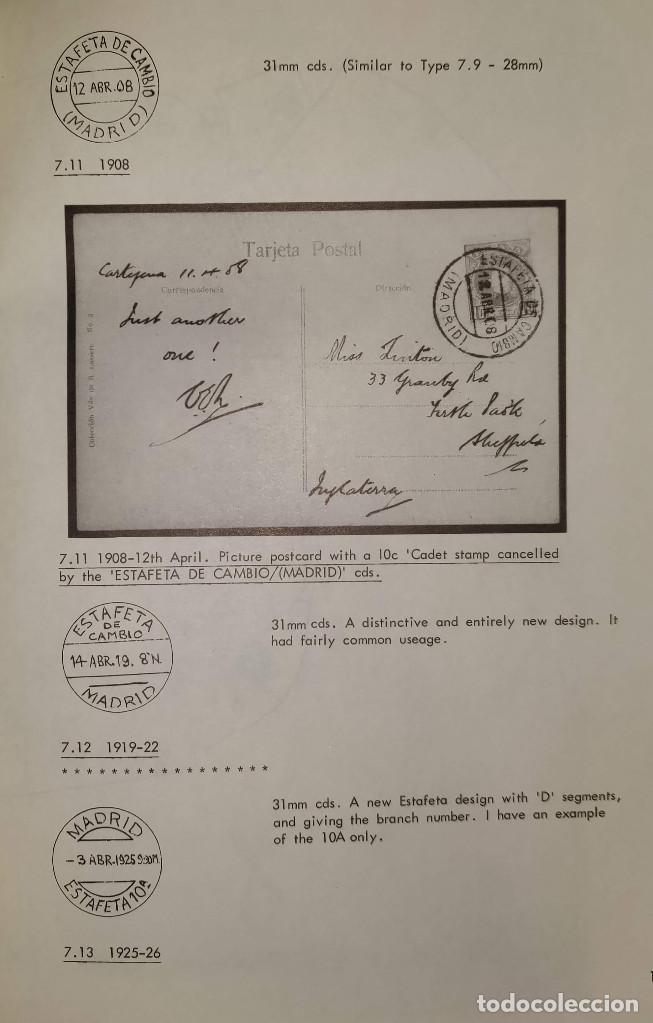Sellos: 2 libros de la Spanish Philatelic Society Bookclub Nº7 y Nº13. Markings of Madrid. Raros - Foto 12 - 132907398