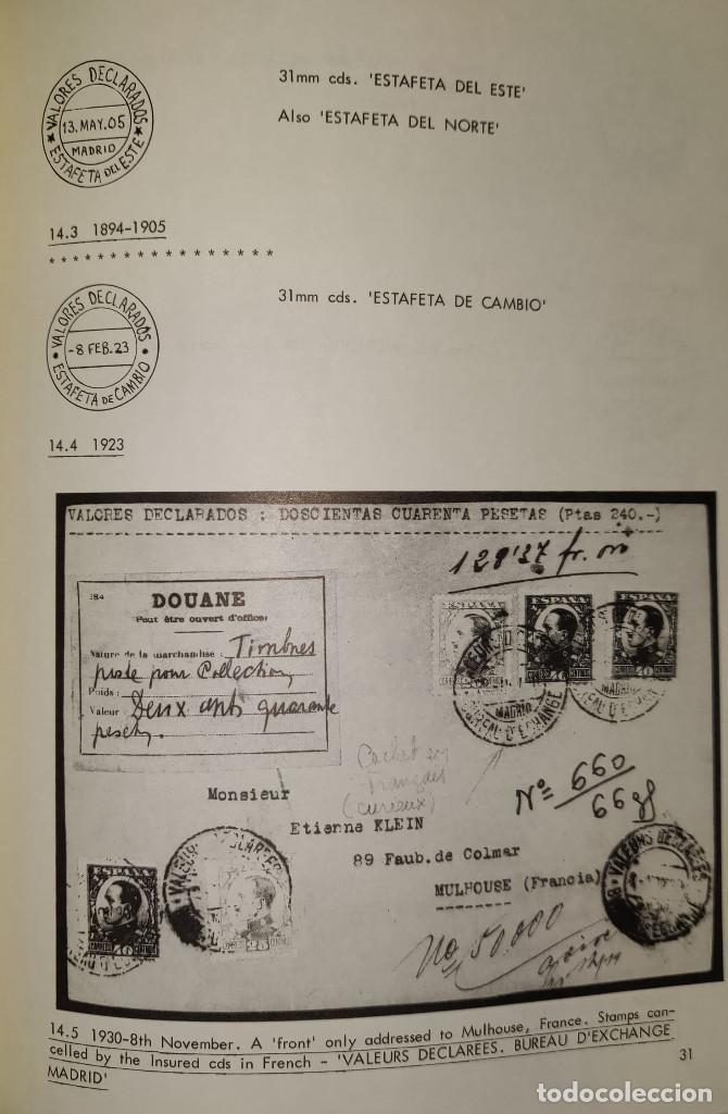 Sellos: 2 libros de la Spanish Philatelic Society Bookclub Nº7 y Nº13. Markings of Madrid. Raros - Foto 13 - 132907398