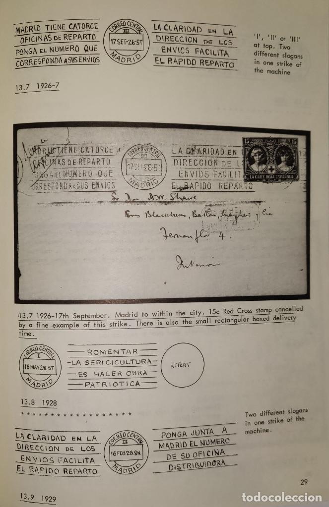 Sellos: 2 libros de la Spanish Philatelic Society Bookclub Nº7 y Nº13. Markings of Madrid. Raros - Foto 14 - 132907398