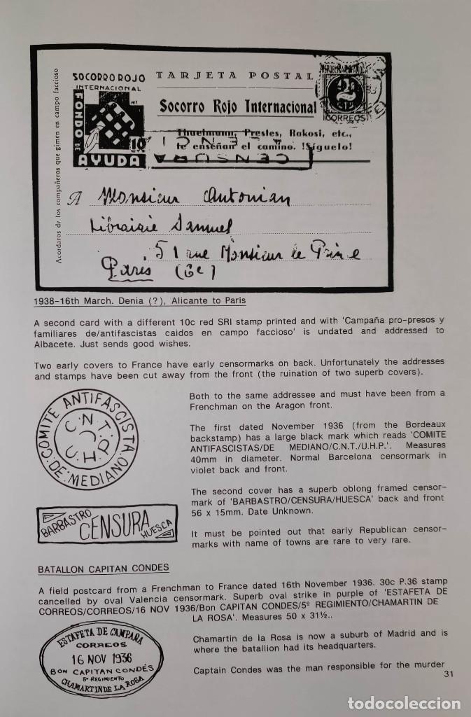 Sellos: The Postal History of the International Brigades 1936-1939 Bookclub Nº11 (2nd. Ed.). R. G. Shelley - Foto 6 - 132911486