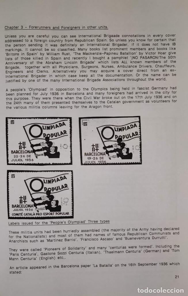Sellos: The Postal History of the International Brigades 1936-1939 Bookclub Nº11 (2nd. Ed.). R. G. Shelley - Foto 7 - 132911486