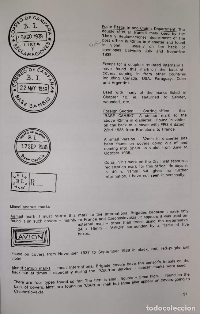 Sellos: The Postal History of the International Brigades 1936-1939 Bookclub Nº11 (2nd. Ed.). R. G. Shelley - Foto 11 - 132911486