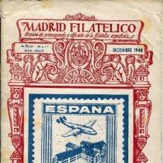Sellos: MADRID FILATÉLICO-BOLETIN Nº 485/12- AÑO 1948 RARO-. Lote 135742254