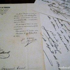 Sellos: SOCIEDAD DE FILATELISTAS DOCUMENTO ADMISION SOCIO . 1921 FILATELIA. Lote 138787506