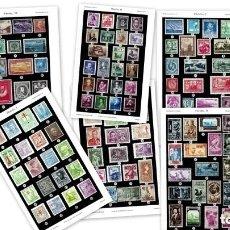 Sellos: 1950 FILATELIA - COLECCIONISMO - ARTE - CULTURA - LOTE LAMINAS ORIGINALES SIGLO XX-. Lote 139574318