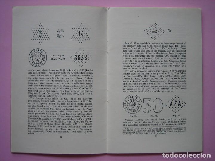 Sellos: FILATELIA LIBRO HISTORIA POSTAL Y MARCAS POSTALES DE LA GUERRA FRANCO PRUSIANA (1870-1871) AÑO 1955 - Foto 2 - 140030498