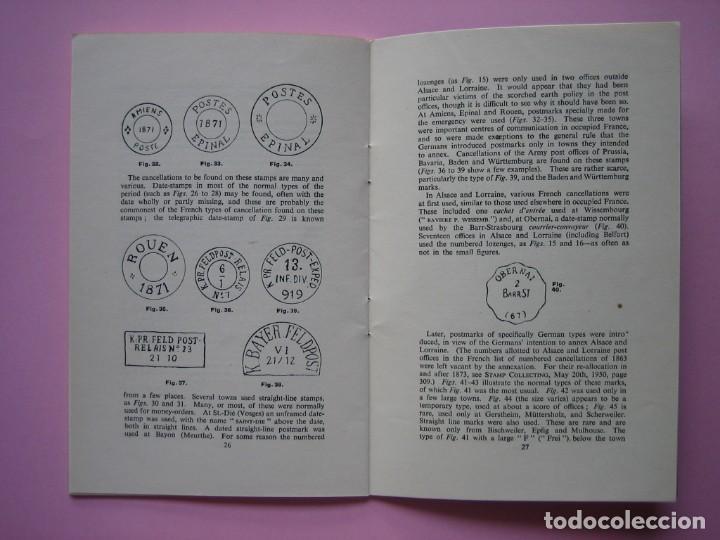 Sellos: FILATELIA LIBRO HISTORIA POSTAL Y MARCAS POSTALES DE LA GUERRA FRANCO PRUSIANA (1870-1871) AÑO 1955 - Foto 3 - 140030498
