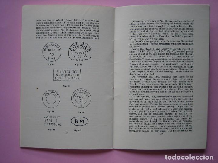 Sellos: FILATELIA LIBRO HISTORIA POSTAL Y MARCAS POSTALES DE LA GUERRA FRANCO PRUSIANA (1870-1871) AÑO 1955 - Foto 4 - 140030498