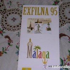 Sellos: FOLLETO EXPLICATIVO 23/95 EXFILNA 95 MÁLAGA. Lote 140116350
