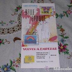 Sellos: FOLLETO EXPLICATIVO Nº 1/95 CINE ESPAÑOL BELLE EPOQUE Y VOLVER A EMPEZAR. Lote 140116518