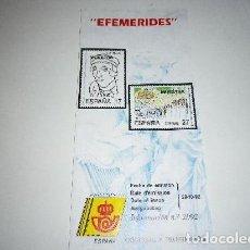 Sellos: FOLLETO EXPLICATIVO - EFEMÉRIDES 1992. Lote 140117254
