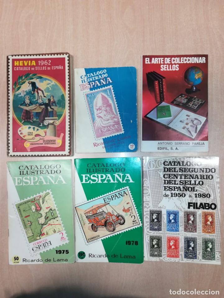 LOTE 6 CATÁLOGOS SELLOS DE 1962 A 1980 (Filatelia - Sellos - Catálogos y Libros)